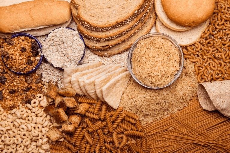 Aliments complets, pain, pâtes, céréales