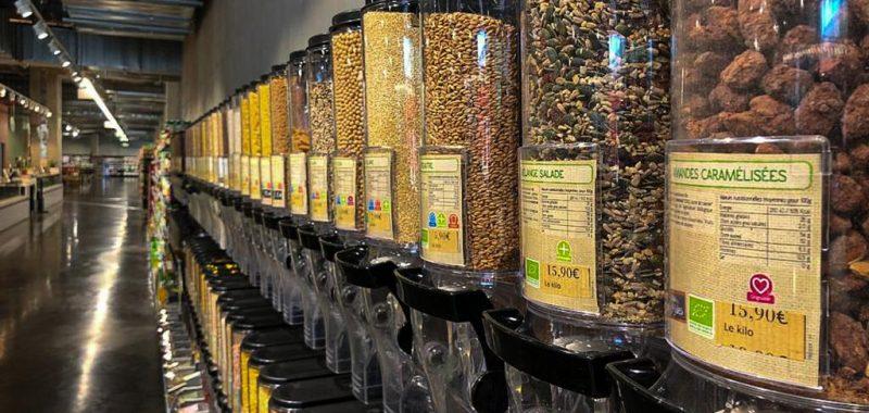 Vrac au supermarché Leclerc Bio et italien de Nice Valley